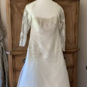 Wedding dress with bolero jacket